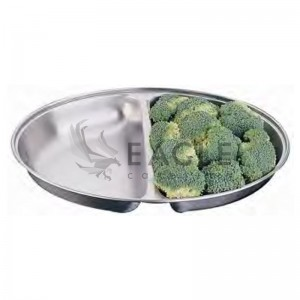 Deep oval tray 2 divide