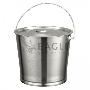Stainless Steel Bucket 8L with Lid