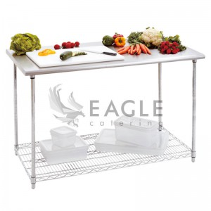 Work Table with Wire Shelf