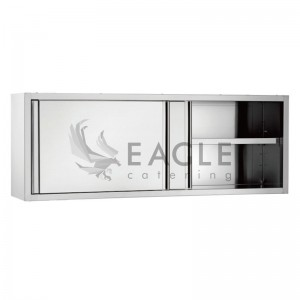 Wall cabinets with sliding doors