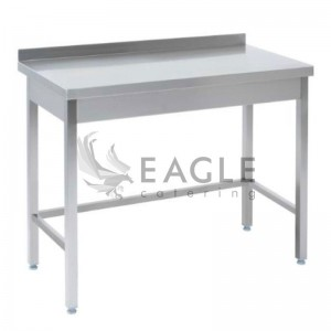 Work Table with open base 600 with Splashback