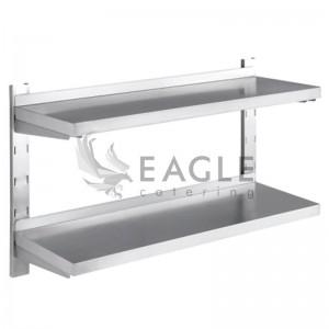 Wall Shelf 2 Tiers Adjustable