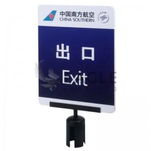 PVC sign holder