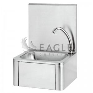 Knee-operated hand wash basin