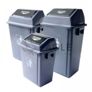 PP Push Cover Waste Bins